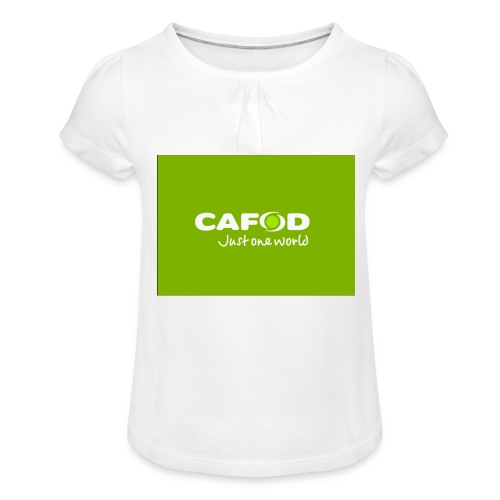 CAFOD Logo greenback - Girl's T-Shirt with Ruffles