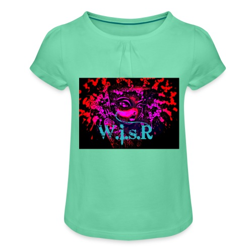Art WISR T- Paita - Tyttöjen t-paita, jossa rypytyksiä