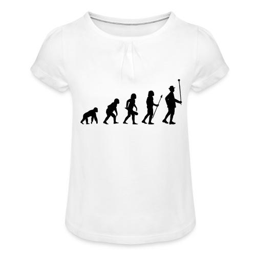 Stabführer Evolution - Mädchen-T-Shirt mit Raffungen