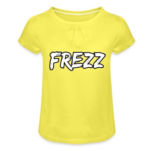 T Shirt FREZZ Noir&Blanc Classique (NOIR) - T-shirt à fronces au col Fille