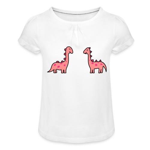 Mochila de Dinosaurios - Camiseta para niña con drapeado