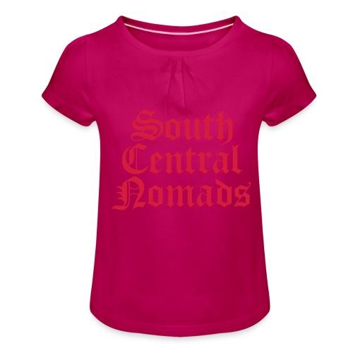 South Central Nomads - Mädchen-T-Shirt mit Raffungen