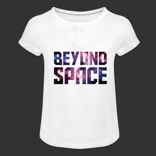 Beyond Space - T-shirt à fronces au col Fille