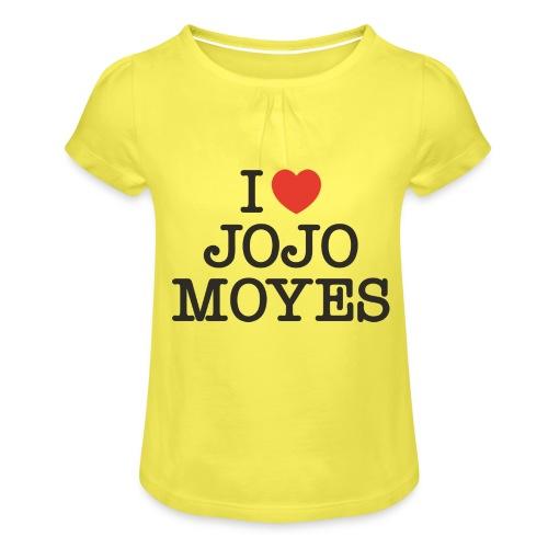 I LOVE JOJO MOYES - Pige T-shirt med flæser