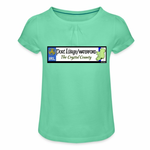 WATERFORD, IRELAND: licence plate tag style decal - Girl's T-Shirt with Ruffles