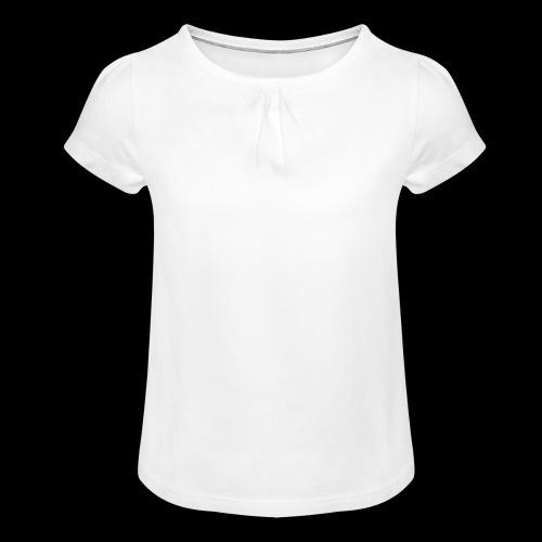 380 (blanc) - T-shirt à fronces au col Fille