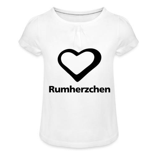 Rumherzchen - Mädchen-T-Shirt mit Raffungen