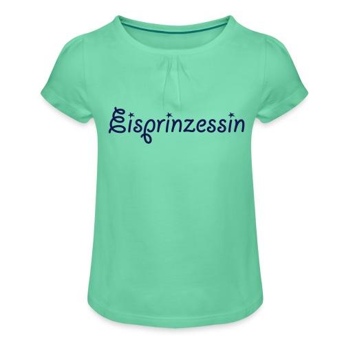 Eisprinzessin, Ski Shirt, T-Shirt für Apres Ski - Mädchen-T-Shirt mit Raffungen