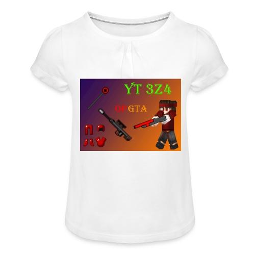 yt 3z4 - Tyttöjen t-paita, jossa rypytyksiä