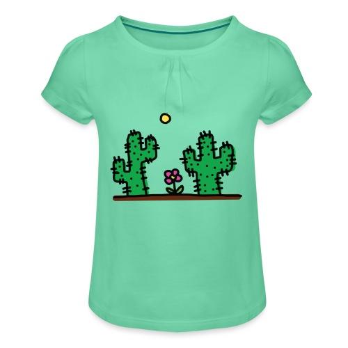 Cactus - Maglietta da ragazza con arricciatura