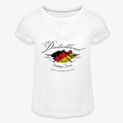 Vintage Deutschland - Mädchen-T-Shirt mit Raffungen