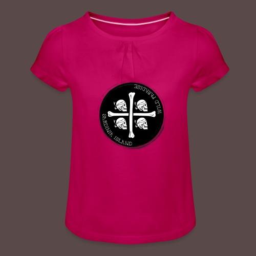 Sardegna Quattro Mori Pirata - Maglietta da ragazza con arricciatura