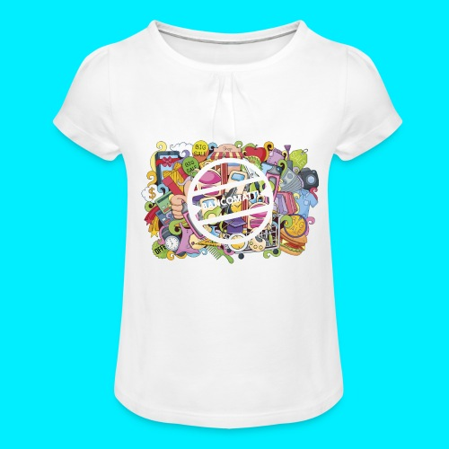 maglia logo doodle - Maglietta da ragazza con arricciatura