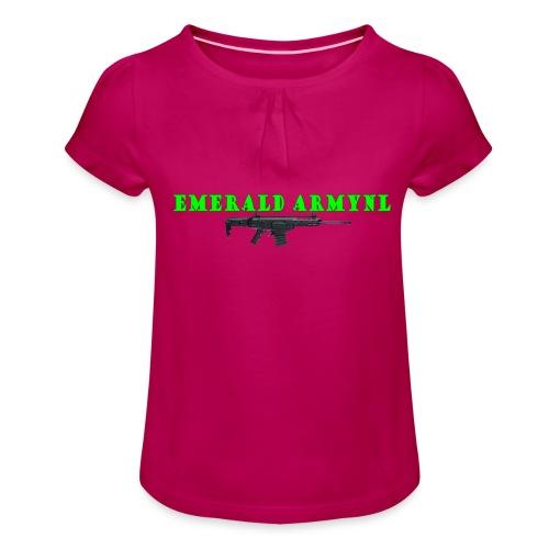 EMERALDARMYNL LETTERS! - Meisjes-T-shirt met plooien
