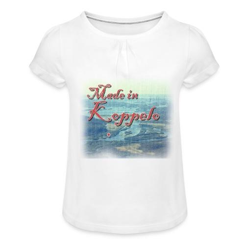 Made in Koppelo lippis - Tyttöjen t-paita, jossa rypytyksiä