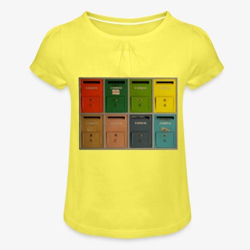 Briefkasten - Mädchen-T-Shirt mit Raffungen
