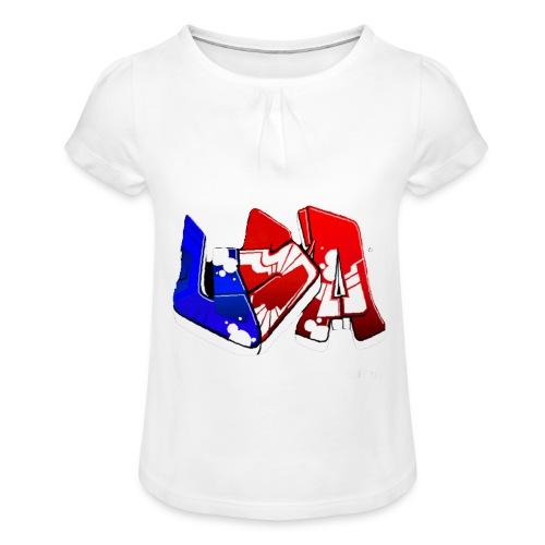 USA - T-shirt à fronces au col Fille
