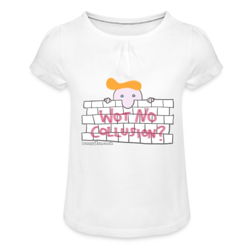 Trump's Wall - Girl's T-Shirt with Ruffles