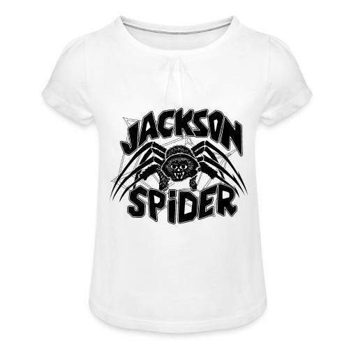 jackson spreadshirt - Mädchen-T-Shirt mit Raffungen