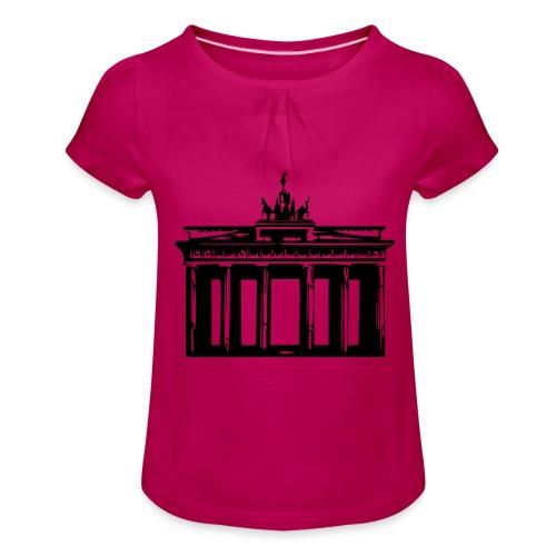 Brandenburger Tor - Mädchen-T-Shirt mit Raffungen