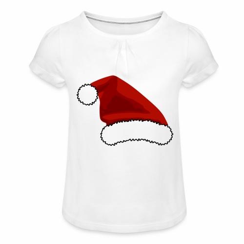 Joulutontun lakki - tuoteperhe - Tyttöjen t-paita, jossa rypytyksiä