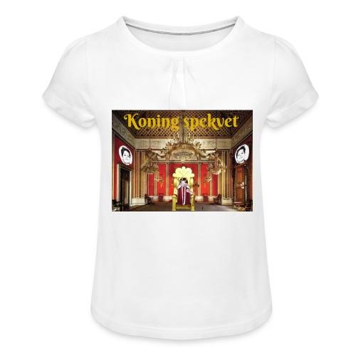Koning Spekvet - Meisjes-T-shirt met plooien