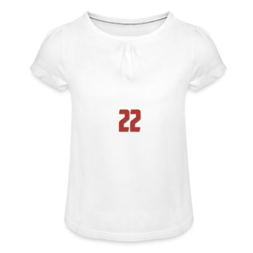 t-shirt zaniolo Roma - Maglietta da ragazza con arricciatura