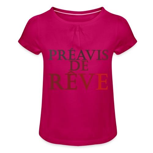 préavis de rêve (rouge) - T-shirt à fronces au col Fille