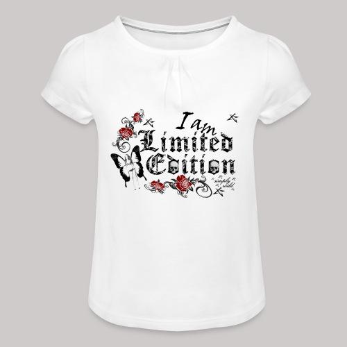 simply wild limited Edition on white - Mädchen-T-Shirt mit Raffungen