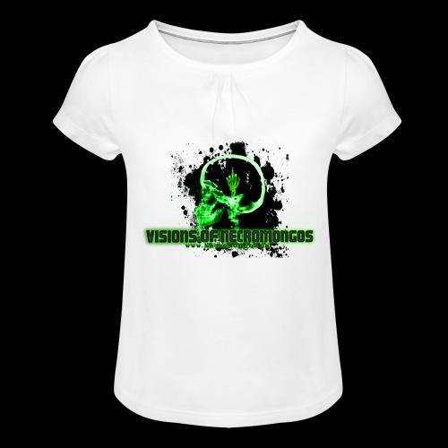 VISIONS OF NECROMONGOS - Mädchen-T-Shirt mit Raffungen