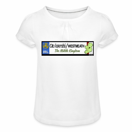 WESTMEATH, IRELAND: licence plate tag style decal - Girl's T-Shirt with Ruffles