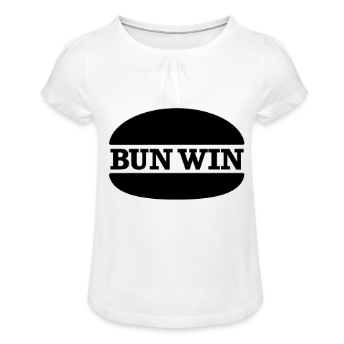 bunwinblack - Girl's T-Shirt with Ruffles