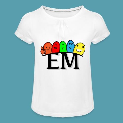 EM - Tyttöjen t-paita, jossa rypytyksiä