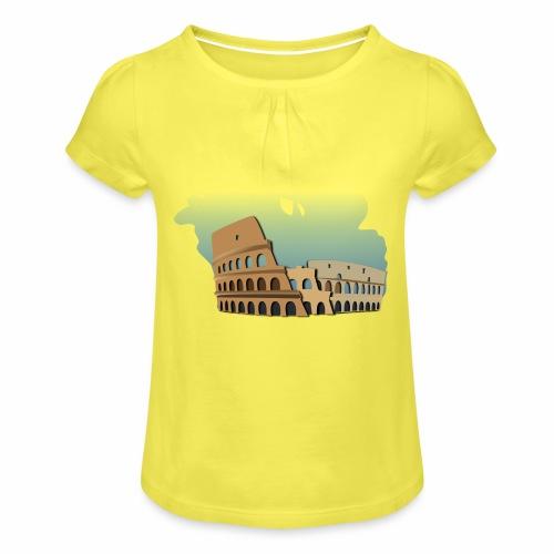 Kolosseum - Mädchen-T-Shirt mit Raffungen