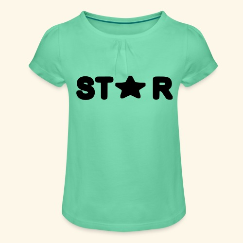 Star of Stars - Girl's T-Shirt with Ruffles