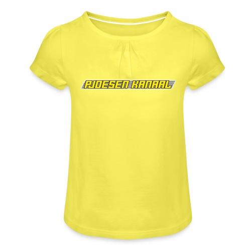 Pjoesen Kanaal - Meisjes-T-shirt met plooien