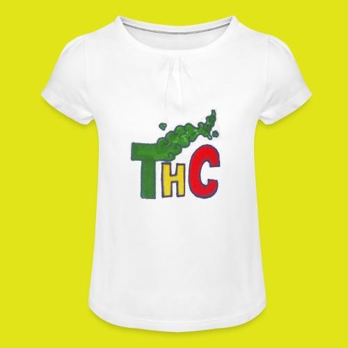 THC logo one - Maglietta da ragazza con arricciatura