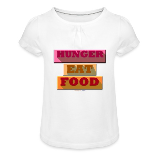 Hunger TShirt - T-shirt à fronces au col Fille