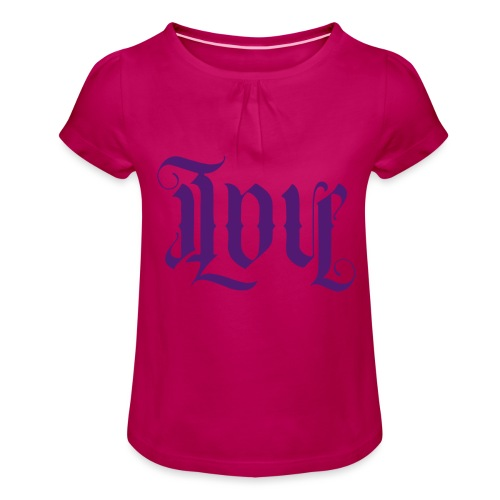 Love and hate - Girl's T-Shirt with Ruffles