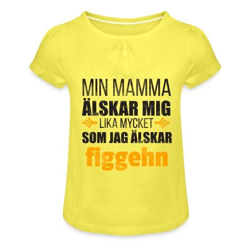 Min mamma älskar mig - T-shirt med rynkning flicka