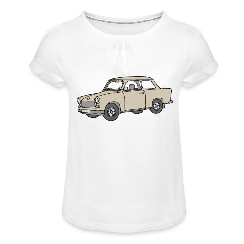 Trabi, Trabant (papyrus) - Mädchen-T-Shirt mit Raffungen