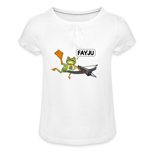 Amazing Frog Crossbow - Girl's T-Shirt with Ruffles
