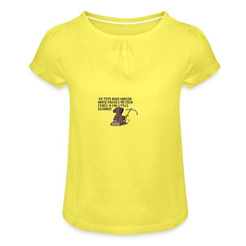 Comicità - Maglietta da ragazza con arricciatura