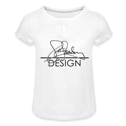 sasealey design logo png - Girl's T-Shirt with Ruffles