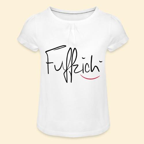 fünfzig - Mädchen-T-Shirt mit Raffungen
