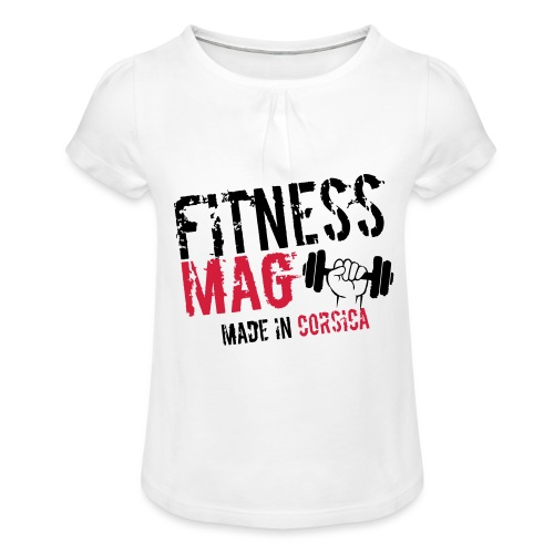 Fitness Mag made in corsica 100% Polyester - T-shirt à fronces au col Fille