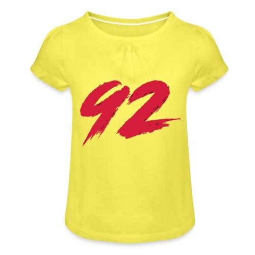 92 Logo 1 - Mädchen-T-Shirt mit Raffungen