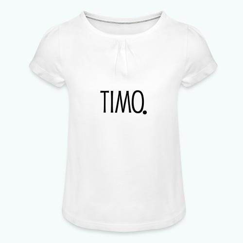 Ontwerp zonder achtergrond - Meisjes-T-shirt met plooien
