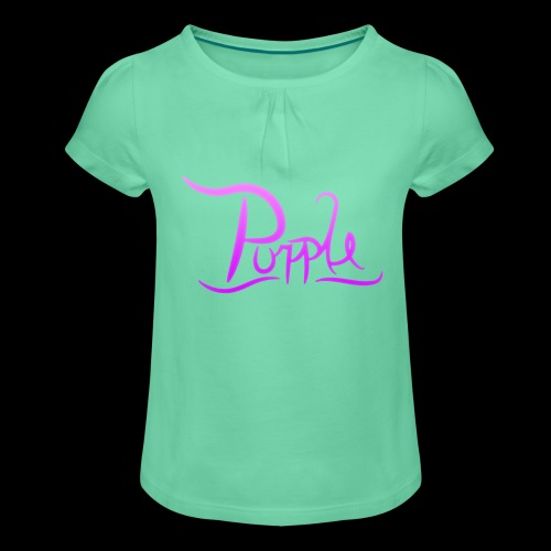 PurpleDesigns - Girl's T-Shirt with Ruffles