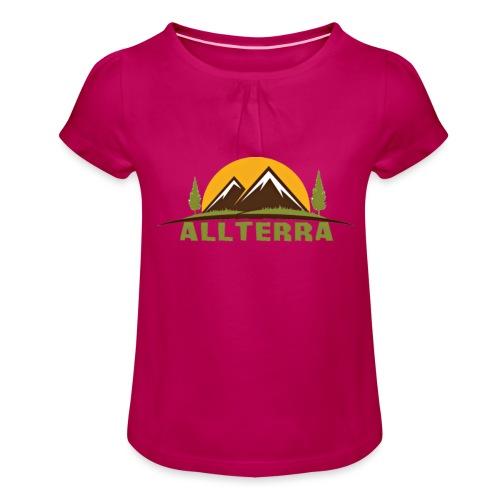 camiseta básica Alterra - Camiseta para niña con drapeado